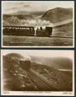 GB Wales Snowdon Summit Cachet 7 X Postcards - Grande-Bretagne