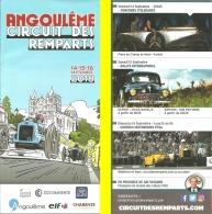 Dépliant-Programme - Circuit Des Remparts - Angoulême - 14-15-16 Septembre 2018 - Ill. Delvaux - Programs