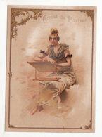 Chromo  CHOCOLAT DU PLANTEUR   Femme Et Pupitre    Grand Format   15 X 11 Cm - Chocolat