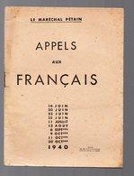 (39-45, Vichy, Collaboration, Propagande) Pétain: Appels Aux Français 1940  (PPP9281) - Documenti Storici