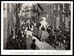 1911  --  BELGIQUE   LA PROCESSION DE FURNES  CHAR DE SAINT JEAN BAPTISTE  3P836 - Old Paper