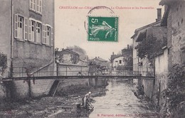 Carte 1908 CHATILLON SUR CHALARONNE / LA CHALARONNE ET LES PASSERELLES (lavoir,laveuses) - Châtillon-sur-Chalaronne