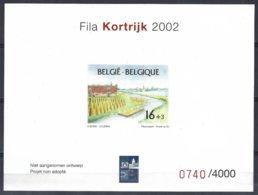 Fila Kortrijk 2002,projet Non Adopté  Numéroté. Tirage 4000 - Belgio