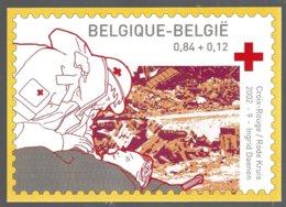 Belgique CP  Représentant Le Timbre Cob 3072 Année 2002, X-Rouge ** - Timbres (représentations)