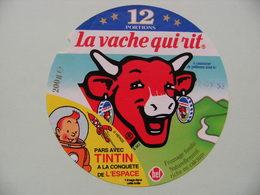 Etiquette Fromage Fondu - Vache Qui Rit - 12 Portions Bel Pub Tintin Dans L'Espace Hergé   A Voir ! - Cheese