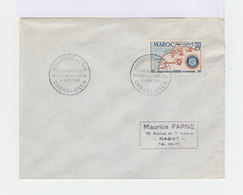 Enveloppe Premier Jour Cinquantenaire Rotary International Casablanca Juin 1955. (688) - Autres