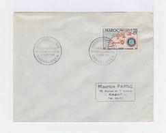 Enveloppe Premier Jour Cinquantenaire Rotary International Casablanca Juin 1955. (688) - Maroc (1891-1956)