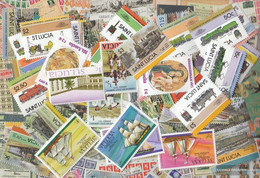St. Lucia 1.000 Different Stamps - St.Lucia (1979-...)