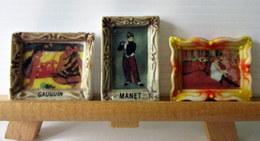 Lot De 3 Fèves Brillantes - Tableaux : Peintres Gauguin, Manet Et Toulouse Lautrec ? - Charms