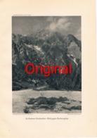 297-3 Hocheisspitze Wimbachtal Bergsteiger Kunstblatt 1914 !! - Historical Documents