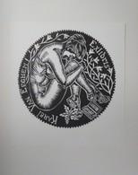 Ex-libris Illustré Belgique XXème -  KAREL VAN EEGHEM - Femme Nue - Bookplates