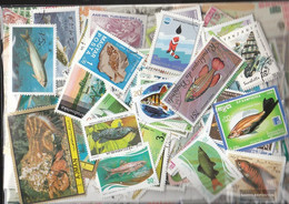 Motives 1.000 Different Fish+Aquatic Animals Stamps - Fishes