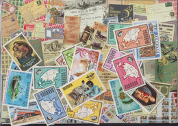 Barbuda Stamps-100 Different Stamps - Antigua And Barbuda (1981-...)