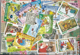 Anguilla Stamps-100 Different Stamps - Anguilla (1968-...)