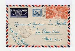 Sur Enveloppe Par Avion 80 Cts Poste Aérienne Anniversaire Victoire Et 25 C. Bleu. CAD Saïgon 1947. (689) - Poste Aérienne