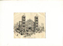 GRAVURE  CATHEDRALE DE KE-CHO à HANOÎ -TONKIN - Prints & Engravings