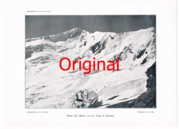 309-5 Ortleralpen Punta San Martteo Kunstblatt 1907  !! - Historical Documents