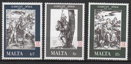 Malta Complete Set Of Stamps To Celebrate 450th Death Anniversary Of Durer 1978. - Malta