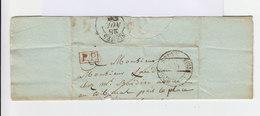 Sur Lettre Marque Postale. CAD Nisme 1835 Et Sauve. Oblitération PP. Avec Lettre. (690) - Marcophilie (Lettres)