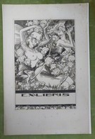 Grand Ex-libris Illustré Belgique XXème - Femme Nue Par TILMANS Pour Jules GROSFILS - Bookplates