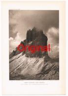 316-4 Drei Zinnen Von Osten Sexten Toblach Kunstblatt 1907 !! - Historical Documents