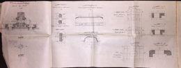 Ottoman Railways 154x29 Cm Technical Plate - Machines