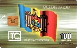 *MOLDAVIA* - Scheda A Chip Usata - Moldova