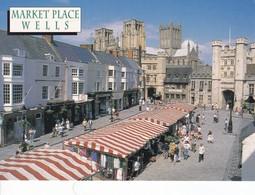 Postcard Market Place Wells Somerset By John Hinde My Ref  B23143 - Markets