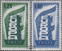 Italy Mi.-number.: 973-974 (complete Issue) Unmounted Mint / Never Hinged 1956 Europe - 6. 1946-.. Republik