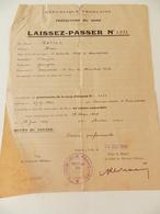 Militaria - Armentières - Laissez-Passer  - 1945 - Documents Historiques