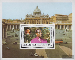 Lesotho Block51 (complete.issue.) Unmounted Mint / Never Hinged 1988 Visit Pope Johannes Paul II - Lesotho (1966-...)