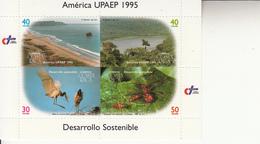1995 Costa Rica Nature Birds Spiders  Souvenir Sheet Of 4 MNH - Costa Rica