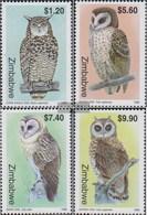 Simbabwe 639-642 (completa Edizione) MNH 1999 Locals Gufi - Zimbabwe (1980-...)