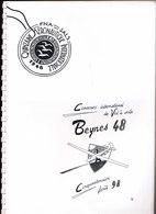 CONCOURS DE VOL A VOILE BEYNES  1948 - 1998 - Documenti Storici