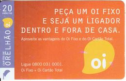 BRAZIL(Anatel) - OI Telecard 20 Units, 01/09, Used - Brazil