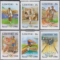 Lesotho 659-664 (complete.issue.) Unmounted Mint / Never Hinged 1987 Olympics Summer - Lesotho (1966-...)