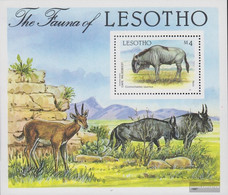 Lesotho Block42 (complete.issue.) Unmounted Mint / Never Hinged 1987 Locals Flora - Lesotho (1966-...)