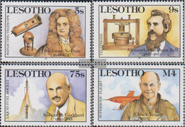 Lesotho 630-633 (complete.issue.) Unmounted Mint / Never Hinged 1987 Scientific Achievements - Lesotho (1966-...)