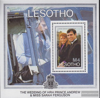 Lesotho Block36 (complete.issue.) Unmounted Mint / Never Hinged 1986 Prince Andrew , Sarah Ferguson - Lesotho (1966-...)