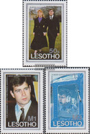 Lesotho 604-606 (complete.issue.) Unmounted Mint / Never Hinged 1986 Prince Andrew , Sarah Ferguson - Lesotho (1966-...)
