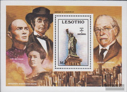 Lesotho Block34 (complete.issue.) Unmounted Mint / Never Hinged 1986 100 Years Freiheitsstatue - Lesotho (1966-...)
