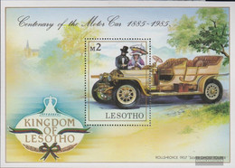 Lesotho Block 26 (complete.issue.) Unmounted Mint / Never Hinged 1985 100 Years Automotive - Lesotho (1966-...)