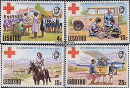 Lesotho 195-198 (complete.issue.) Unmounted Mint / Never Hinged 1976 25 Years Red Cross - Lesotho (1966-...)