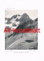 336-2 Kaunergrat Watzespitze Kunstblatt 1904!! - Documenti Storici