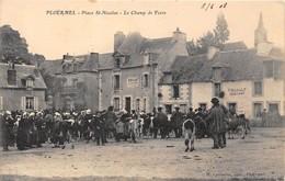 56-PLOËRMEL-PLACE ST-NICOLAS, LE CHAMP DE FOIRE - Ploërmel