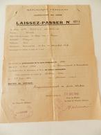 Militaria - Armentières (59) - Laissez-Passer N° 4974 - 1945 - Documents Historiques