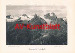 338-2 Kaunergrat Pitztaler Jöchl Kunstblatt 1904!! - Documenti Storici