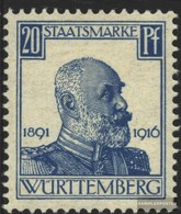 Württemberg D245 Tested Fine Used / Cancelled 1916 King William - Wurttemberg