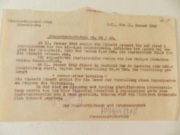 Militaria - Armentières (59) - Document écrit En Allemand - Cachet De La Standortkommandantur D'Armentières - 1943 - Documenti Storici