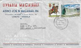 ANGOLA COLONY OF PORTUGAL Old Cover Sent To Aarau 2 Stamps COVER USED - Angola